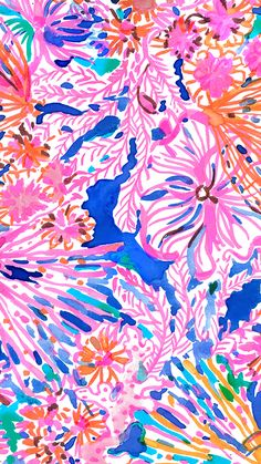 Lilly Pulitzer print: Swirling Seadream (Winter 2017)