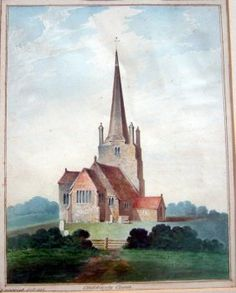 J.Henwood (19th C.) Chiddingly Church, 8 x 6.5 in : Lot 2071