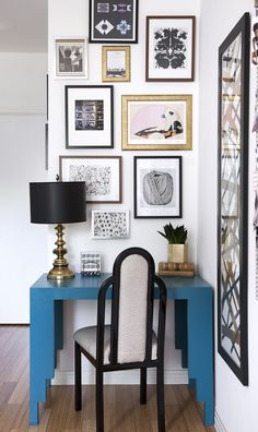 Interiors By Stone Textile_Office 1.  Love this little corner.