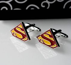Superman Superhero Cufflinks Cuff Links Superman gift for men Superman Gifts, Superhero Cufflinks, Trending Outfits, Unique Jewelry, Handmade Gifts, Men, Accessories, Etsy, Vintage