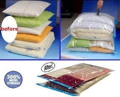 Amazon.com - 12 PACK Space Saver Vacuum Storage Bags 4 Medium size + 4 Large size + 4 Travel Bags - Vacuum Clothes Storage Bags  sc 1 st  Pinterest & Sto-Away Vacuum Sealer Bag (Set of 2) | Vacuum Storage Bag for ...