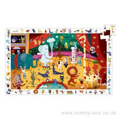 There are lots of things to find in this observation puzzle.  Start by putting all the pieces together, then have fun finding items from the border in the picture.  Also includes full size poster.  Suitable From 3+ years Dimensions Jigsaw 38 x 61cm Brand Djeco Product Code DJ07587 Barcode 3070900075870