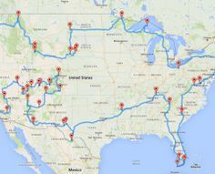 An optimized road trip of all the national parks! - www.islebox.com.