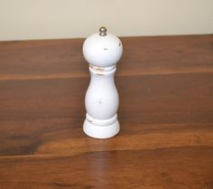 Shabby Chic Pepper Grinder White Upcycle Recycle by LittlestSister, $9.00