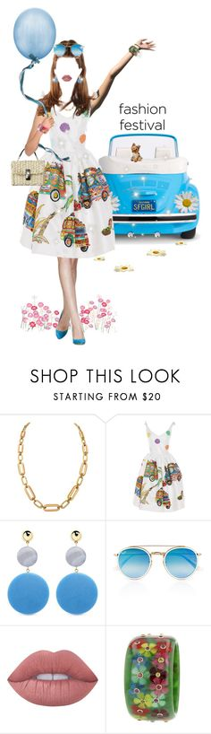 Feeling the Freshness of the Day (dreaming)! by shellygregory on Polyvore featuring Stella Jean, Mark Davis, Givenchy, Elizabeth and James, Ray-Ban, Lime Crime, Dolce&Gabbana, sunday, makebelieve and Fashionfestival