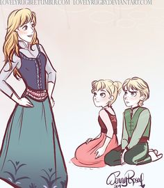 My Kristanna Babies! Princess Elise Prince Kristoffer and Princess Hilde u Let me know what you think! // I LOVE THEM AHHH so many precious babies Disney Magic, Disney Art, Disney Movies, Disney Characters, Disney Stuff, Frozen And Tangled, Disney Frozen, Frozen Art, Elsa Frozen