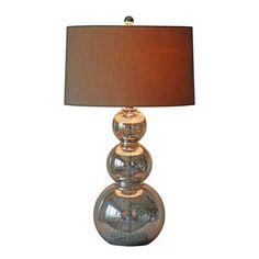 Surya LMP-1018 Silver Mercury Glass Table Lamp