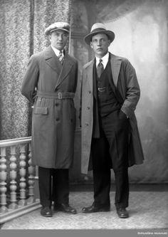 Ateljefoto, män. Fotograf: Oscar Färdig, 1928