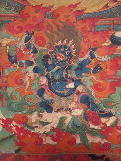 Tibetan Art, Tibetan Buddhism, Buddhist Art, Thangka Painting, Himalayan, Deities, Asian Art, Mythology, Japanese
