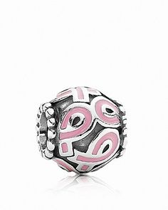 PANDORA Charm - Sterling Silver & Enamel Pink Ribbon - Jewelry & Accessories - Bloomingdale's