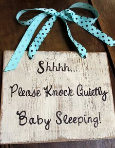 baby sleeping sign; cute gift for new mom