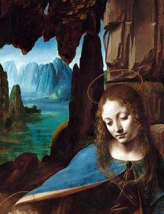 Virgin of the Rocks(1495-1508), detail, Leonardo da Vinci. National Gallery, London