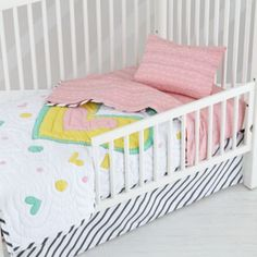 Colorful Shapes Toddler Bedding - From The Home Decor Discovery Community at www.DecoandBloom.com