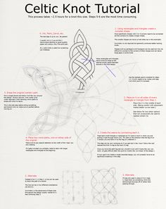 Celtic knot instructions, art, drawing or actual knots from leather or thread or whatever; meaning and history behind knots Celtic Symbols, Celtic Art, Celtic Knots, Celtic Knot Meanings, Mayan Symbols, Celtic Dragon, Egyptian Symbols, Ancient Symbols, Doodles Zentangles