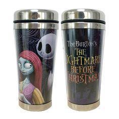 NBX Jack Skellington and Sally 16 oz. Travel Mug - Westland Giftware - Nightmare Before Christmas - Mugs at Entertainment Earth