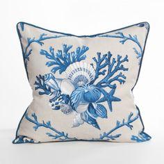 Shellwalk Pillow / Atlantic - Cape Cod Collection - Coastal Pillow - Beach Pillow
