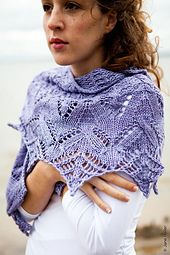 Knit Lace Shawlette  pattern for sale on Ravelry