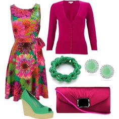 Maroon and Green, created by stephanie-cardwell on Polyvore