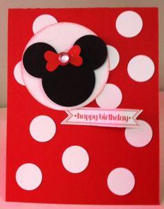 Minnie Mouse, polka dots, birthday card!