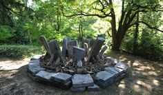 A map directory of Chris Booth works globally. Environmental Sculpture, Andy Goldsworthy, Land Art, Stone Art, Rock Art, Vancouver, Fountain, 3d, Outdoor Decor