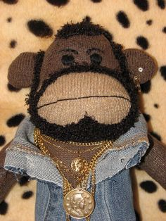 Mr. T sock monkey  OMG this is too funny!! Who thinks of this stuff?