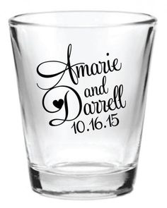 """Product: 1.5 oz. Glass Shot Glasses with a one color customized design of your choice!Quantity: 144 pieces per setImprint Area: 1.25"""" Wide x 1.25"""" HighProduct Dimensions: 2"""" Wide at top, 2.375"""" HighProduct Colors Available: ClearSet-up: NO SET UP FEE!Imprint Colors Available: Imprint colors shown in images above!PERSONALIZE THEM: We have HUNDREDS of images to match your style or theme. You may choose from the images and fonts shown OR, if you don't see what you're looking for, just let me…"""