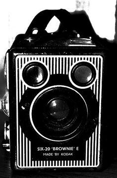 An old Brownie-Kodak camera.  My first camera, originally of my parents