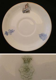 Doulton Burslem saucer.  Queen Victoria 1897 Diamond Jubilee.