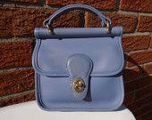 Coach bag tote handbag satchel in periwinkle Periwinkle Blue, Lilac, Lavender, Blue Purse, Small Leather Goods, Dress For Success, Vintage Coach, Tote Handbags, Clutch Bag