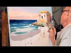 Christian Jequel technique Jequel de peinture au couteau - YouTube
