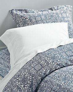 Signature Wrinkle-Resistant Arabesque Sateen Bedding by Garnet Hill - Garnet Hill