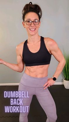 Gym Workout For Beginners, Gym Workout Tips, Workout Videos, Exercise Videos, All Body Workout, Fitness Workout For Women, Body Workouts, Dumbbell Back Workout, Back Exercises