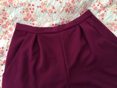 By Hand London sewing tutorial - how to alter the Holly Jumpsuit sewing pattern to make a pair of wool crepe culottes.