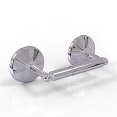 A two-post toilet tissue holder from our Monte Carlo collection. Shown here in a polished chrome finish.