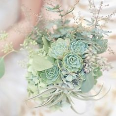 Very nice green succulent floral bouquet)