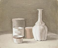 Natura Morta, 1951 by Giorgio Morandi. Magic Realism. still life