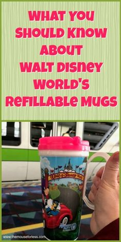 An overview of the Rapid Fill Refillable Mugs sold at the Walt Disney World Resort Hotels Includes how the program works tips and Disney World Hotels, Disney World Tipps, Disney World Secrets, Disney World Vacation Planning, Disney World Food, Disney World Florida, Walt Disney World Vacations, Disney Planning, Disney World Tips And Tricks