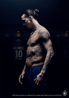 1 | Zlatan Ibrahimovic Tattoos Names Of 50 Hungry People On His Torso | Co.Create | creativity + culture + commerce