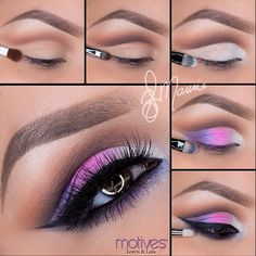 "1.Begin by applying ""Native"" (Mavens Palette) slightly above the crease 2.Using a mix of ""Vino"" and ""Chocolight"" apply slightly underneath ""Native"" 3.Taking ""Angel"" eye Khol eyeliner apply over the lid.4.Taking ""If you dare, Mesmerize Naughty Mauve"" paint pots apply on the lid, over lapping one another slightly 5.Apply your eyeliner (as desired) and smudged both ""Onyx"" and ""Naughty Mauve"" underneath the lower lash line!"