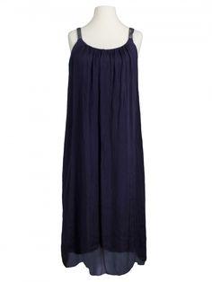 Damen Trägerkleid mit Seide, blau von Diana bei www.meinkleidchen.de