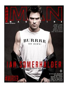 Ian Somerhalder winter cover of Annex Man