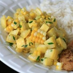 """Yellow Squash and Corn Saute 