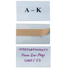 """Open-Edge® Plastic Label Holders, 3"""" x 5"""", Clear, Pack Of 50 $69.99"""