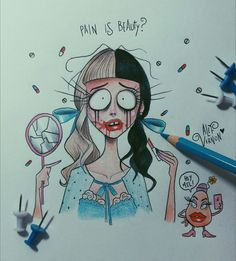 Mrs. Potato Head meets Tim Burton  #melaniemartinez #timburton #alefvernon #illustration