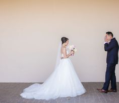 First looks are a beautiful thing..    Photos by Clane Gessel Photography   #weddings #weddingday #brideandgroom #mrandmrs