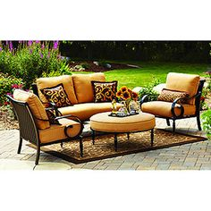 better homes and gardens englewood heights 4 piece outdoor conversation set - Better Homes And Gardens Outdoor