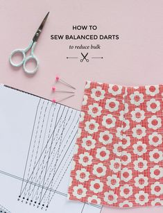 How to sew balanced darts - a great way of reducing bulk in darts - Tilly and the Buttons Needlework tips & tricks also about Needlework arts CLICK VISIT link above for more details - Needlework tips & tricks Sewing Hacks, Sewing Tutorials, Sewing Crafts, Sewing Projects, Sewing Tips, Sewing Ideas, Love Sewing, Sewing For Kids, Hand Sewing