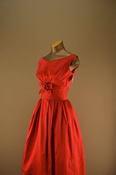 Late 1950s Lorrie Deb Party dress Raspberry 50s by melsvanity, $98.00