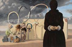 ymutate: Federico Castellon: The Dark Figure, 1938 found at kraftgenie Gunther Stephan, posted by ymutate Night At The Museum, Pop Art Illustration, Cult, Whitney Museum, Community Art, American Artists, American Realism, Dark Art, New Art