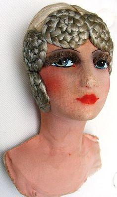 Love the hair!! SILK COVERED FRENCH BOUDOIR DOLLS SHOULDER HEAD | eBay